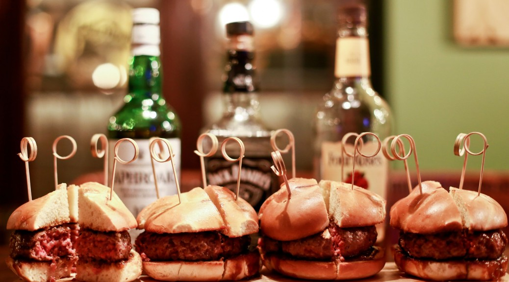 burgers and whiskey
