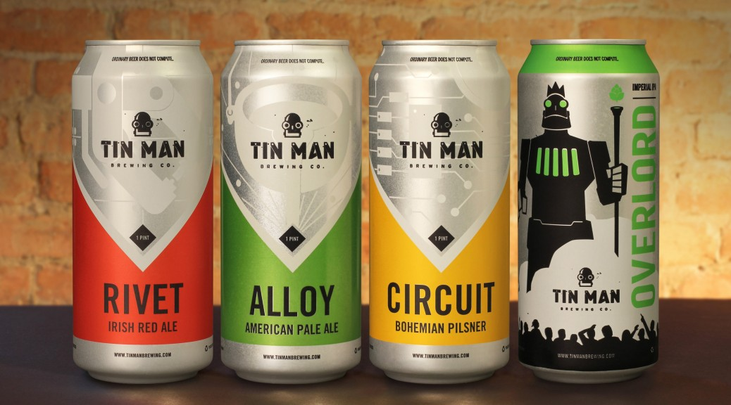 Tin Man Brewing Co. is offering four of its core beers in Rexam 16 oz. cans. (PRNewsFoto/Rexam)